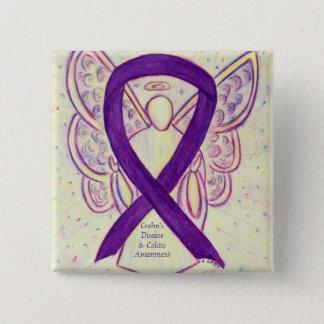Crohn's Disease and Colitis Awareness Angel Pins