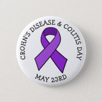 Crohn's Disease and Colitis Day Awareness Button