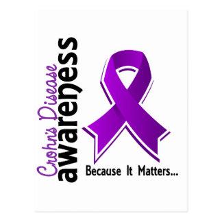 Crohn's Disease Awareness 5 Postcard