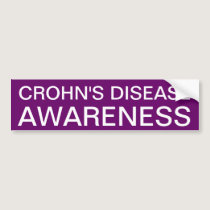 Crohn's Disease Awareness Bumper Sticker
