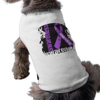 Crohns Disease Awareness Grunge Ribbon Pet Tee Shirt