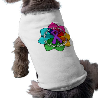 Crohns Disease Awareness Matters Petals Dog T-shirt