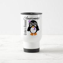 Crohn's Disease Awareness Penguin Travel Mug