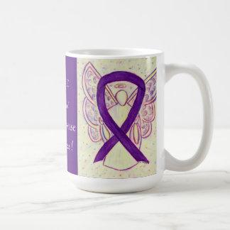 Crohn's Disease Awareness Purple Ribbon Custom Mug