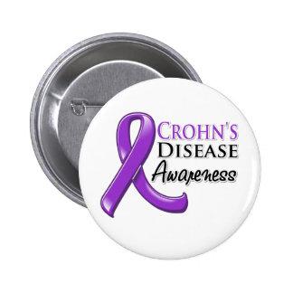 Crohn's Disease Awareness Ribbon 2 Inch Round Button