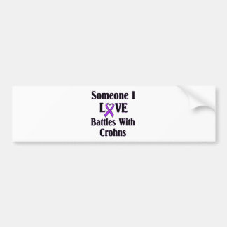Crohns Disease Car Bumper Sticker