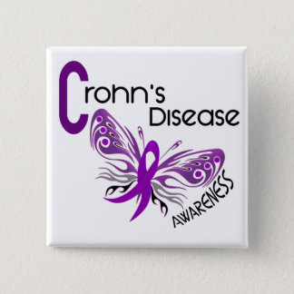 Crohn's Disease BUTTERFLY 3 Button