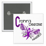 Crohn's Disease BUTTERFLY 3 Pinback Button