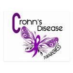 Crohn's Disease BUTTERFLY 3 Postcards