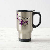 Crohn's Disease BUTTERFLY 3 Travel Mug