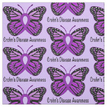 Crohn's Disease Butterfly Awareness Ribbon Fabric