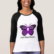 Crohn's Disease Butterfly Awareness Ribbon T-Shirt
