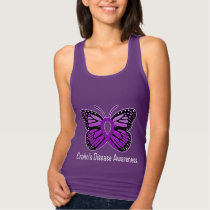 Crohn's Disease Butterfly Awareness Ribbon Tank Top