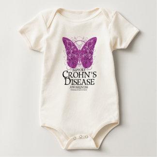 Crohn's Disease Butterfly Baby Bodysuit