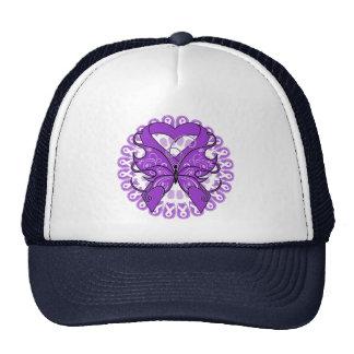 Crohn's Disease Butterfly Circle of Ribbons Mesh Hat