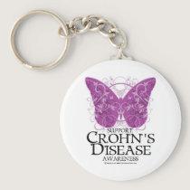 Crohn's Disease Butterfly Keychain