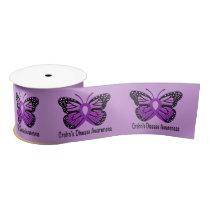 Crohn's Disease Butterfly of Hope Satin Ribbon