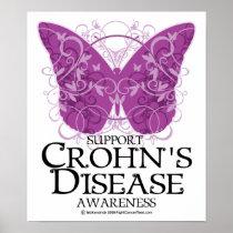Crohn's Disease Butterfly Poster