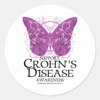 Crohn's Disease Butterfly Stickers