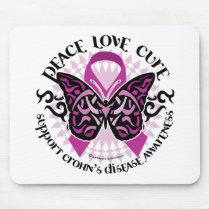 Crohn's Disease Butterfly Tribal Mouse Pad