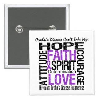 Crohn's Disease Can't Take My Hope Collage Pins