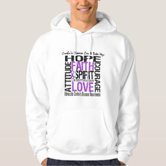 Crohn's Disease Can't Take My Hope Collage Hooded Pullovers