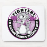 Crohn's Disease Cat Fighter Mouse Pad