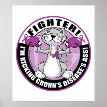Crohn's Disease Cat Fighter Poster