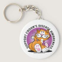 Crohn's Disease Cat Keychain