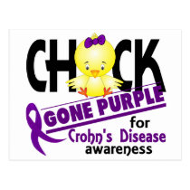Crohn's Disease Chick Gone Purple 2 Postcard