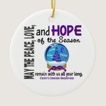Crohns Disease Christmas 3 Snow Globe Ornaments
