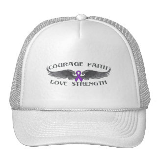 Crohns Disease Courage Faith Wings Trucker Hat