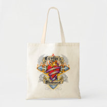 Crohns Disease Cross & Heart Tote Bag