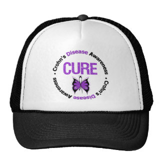 Crohns Disease Cure Butterfly Ribbon Hats