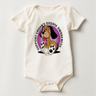 Crohn's Disease Dog Baby Bodysuit