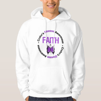 Crohns Disease Faith Butterfly Hooded Pullovers