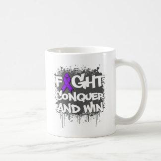 Crohn's Disease Fight Conquer and Win Classic White Coffee Mug