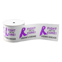 "Crohn's Disease Fight for the  Cure 3"" Grosgrain Ribbon"