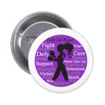 Crohn's Disease Fight Like A Girl Collage Pinback Buttons