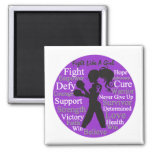 Crohn's Disease Fight Like A Girl Collage Fridge Magnet