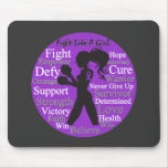 Crohn's Disease Fight Like A Girl Collage Mousepads