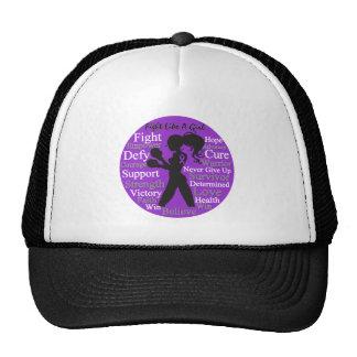 Crohn's Disease Fight Like A Girl Collage Trucker Hat