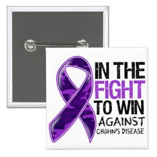 Crohn's Disease - Fight To Win 2 Inch Square Button