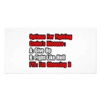 Crohn's Disease Fighting Options Photo Card