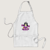 Crohn's Disease Fighting Penguin Adult Apron