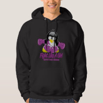 Crohn's Disease Fighting Penguin Hoodie
