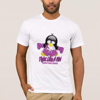 Crohn's Disease Fighting Penguin T-Shirt