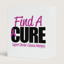 Crohn's Disease Find A Cure 3 Ring Binder