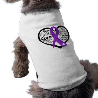 Crohn's Disease Heart Ribbon Collage Dog Clothing