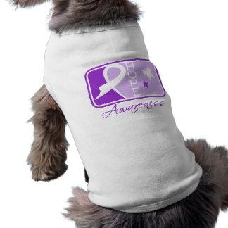 Crohn's Disease Hope Awareness Tile Dog T Shirt